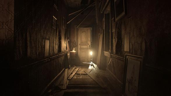 Resident Evil 7 corridor