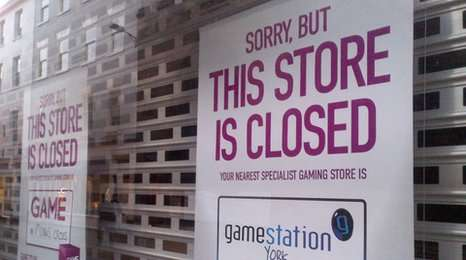 closed game store sign