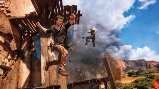 Uncharted 4 Nathan Drake jumping