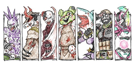 Drawn To Death Characters