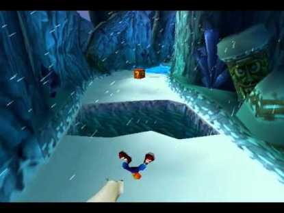 Crash Bandicoot 2 snow death animation