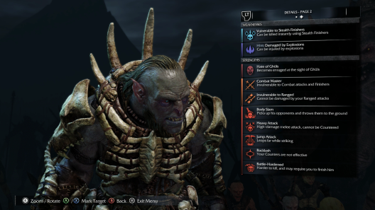 Shadow of Mordor nemesis system