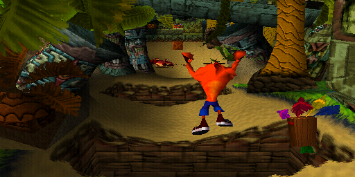 Crash Bandicoot jump
