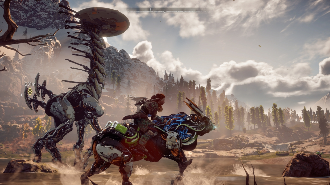 Horizon Zero Dawn tall neck gameplay