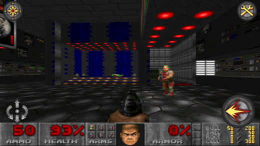 Doom Classic gameplay running on iPhone