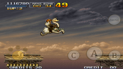 Metal Slug 3 retro games on iPhone gameplay