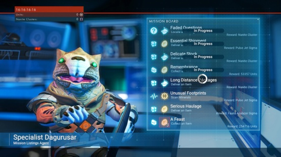 gameplay of new missions available for No Man's Sky