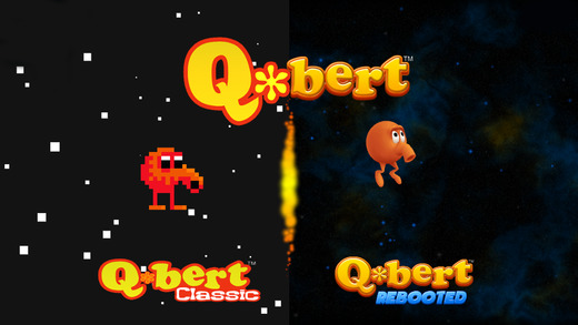 retro game visuals and new gameplay of Q*bert Rebooted on iPhone