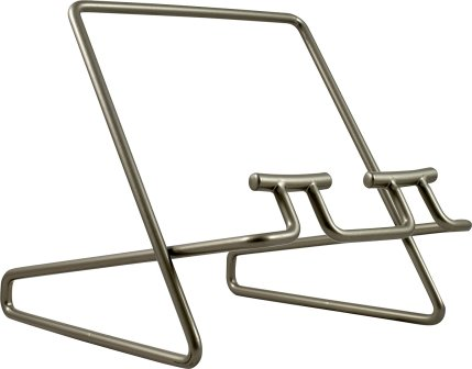 white background, wire book stand from Amazon