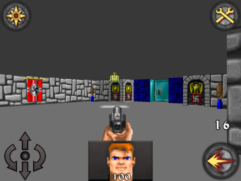 Wolfenstein 3D Classic Platinum gameplay running on iPhone and iPad