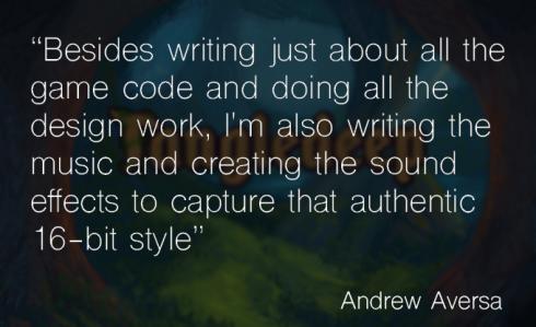 Andrew Aversa on authentic retro game style