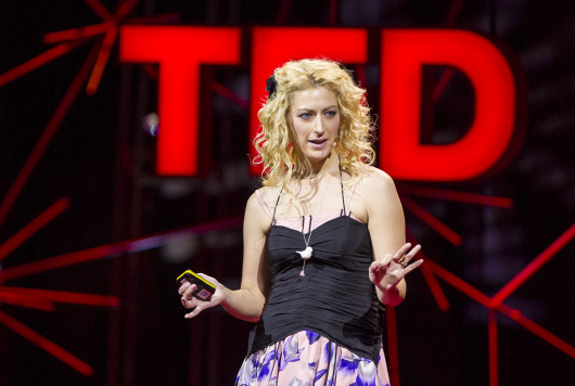 Jane McGonigal speaking at TED