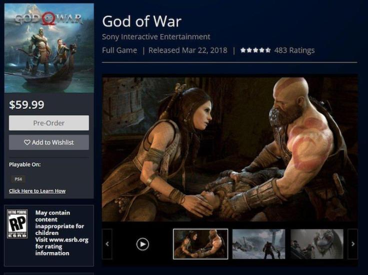 God of War 2018 release date