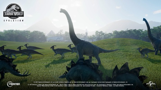 jurassic world evolution in-game footage