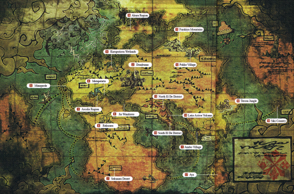map screenshot in Monster Hunter World
