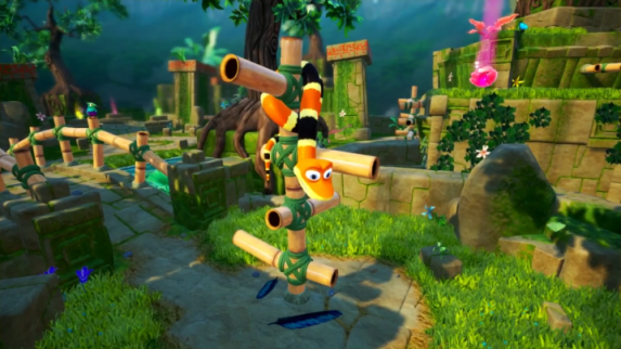 Snake Pass nintendo switch gameplay